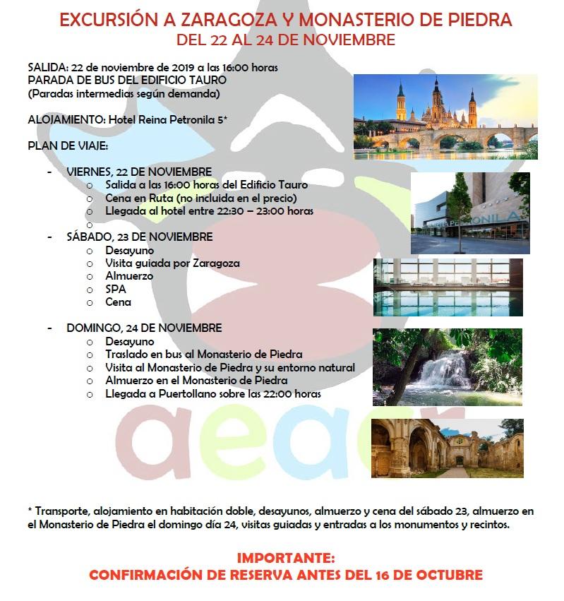 Jornadas de Convivencia, SPA, Cultura y Naturaleza en Zaragoza - Monasterio de Piedra (AEACR) @ Monasterio de Piedra